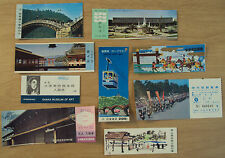 VTG 1970's Lot of 9 JAPANESE Souvenir TICKETS~Events/Places/HIROSHIMA Museum~