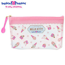 NEW Sanrio Hello Kitty x baskin robbins clear pen pouch 14 × 4 × 21cm Kawaii F/S