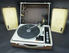 Vintage SINGER Fully Transistorized Stereo System Suitcase Phonograph HE-911
