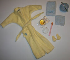Vintage Barbie Complete SINGING IN THE SHOWER #988 Yellow Terry Robe & Belt 1961