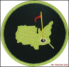 AUGUSTA GOLF MASTERS GREEN/BLACK PATCH IRON/SEW ON HIGH QUALITY ~FREE SHIPPING ~