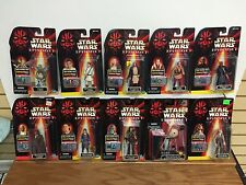 Lot of 10 * Star Wars EPISODE 1 Action Figures TARPELS OLIE WATTO PADME JAR JAR