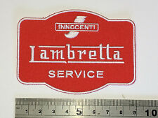 Lambretta Service RED Patch - Embroidered - Iron or Sew On