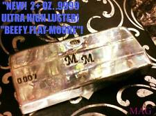 SERIES I - 2+ OZ  .9999 ! HAND POURED SILVER FLAT BAR ! BY MAG METAL$ ELEGANCE