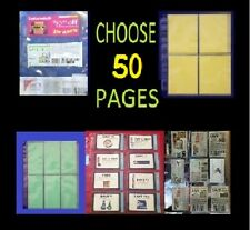 50 COUPON SLEEVES ~ BINDER HOLDER ORGANIZE THOSE COUPONS! DESIGN YOUR OWN!!
