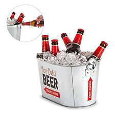 Metal Cider Oval ICE PAIL Bucket Beer Lager Bottle Cooler Vintage Retro Party