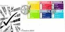 (98633) GB Fourpenny Post FDC Occasions Star Glenrothes 4 February 2003