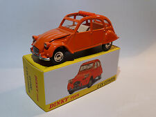 Citroen 2cv orange - ref 011500 au 1/43 de dinky toys atlas