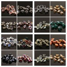 "120pcs Swarovski 8mm side hole ""Diamond shape"" Crystal beads D Mixed colored"
