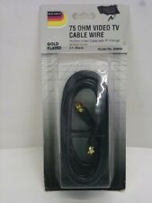 "NEW! DUR-ABLE 75 Ohm VIDEO COAXIAL CABLE w/ ""F"" FITTINGS, 9' LONG, B4649"