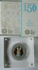 Peter Rabbit 2016 silver proof coloured 50p coin Beatrix Potter 150t Anniversary