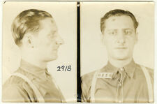 Photo Bertillon identification Policière Police Mug Shot Usa Vers 1930