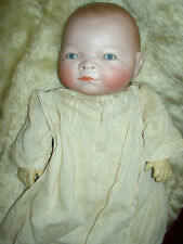 """Precious antique bisque """"Bye-Lo"""" baby doll sgnd Grace Putnam~Germany compo hands"""
