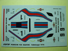 DECALCOMANIES  PORSCHE  935   MARTINI   VALLELUNGA  1976   STARTER  1/43  NEUF