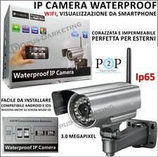 IPCAMERA ESTERNO 3MP IMPERMEABILE IP65 WIFI PER Samsung Galaxy NOTE 10.1