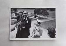 1960s B/W Photograph. Man with Donkey Foal & Very Smart Lady in Polka Dots & Hat