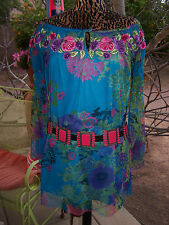 $178~Gorgeous Embroidered Off Shoulder Tunic Dress~Vintage Collection~Crows Nest