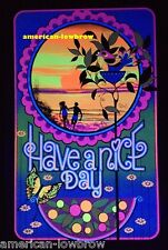 Have a Nice Day Psychedelic Art Blacklight Poster Woodstock Surfing Ocean
