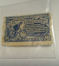 1902 SPECIAL DELIVERY  10 CENT STAMP UNITED STATES OF AMERICA SCOTT #E6  NICE