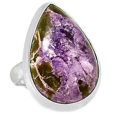 Variscite In Purpurite 925 Sterling Silver Ring Jewelry s.8 VIPR88
