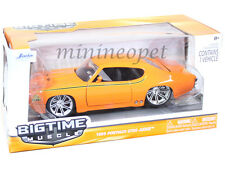 JADA BIGTIME 90060 1969 69 PONTIAC GTO JUDGE 1/24 DIECAST ORANGE
