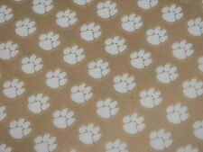 "CLEMSON TIGERS 1/2"" DIE CUT White Paw 2015 Football Helmet Award Decal Qty (20)"