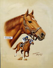 Secretariat photo from oil painting  Horse Racing 1973 Kentucky Derby