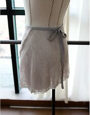 new Ballet Dance Wrap Skirt High-quality Gray M/Lsize Elegant double Floral lace