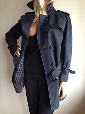 BURBERRY WOMENS UK SMALL 10(USA 6) SHORT NAVY TRENCHCOAT JACKET RAINCOAT COAT