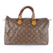 Auth LOUIS VUITTON Speedy 35 Hand Bag Purse Monogram M41524 Brown