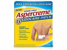 2 Pack Aspercreme Lidocaine Maximum Strength Patch Odor Free 5 patches Each