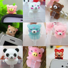 1Pcs Hot 3D Cute Animals 3.5mm Anti Dust Phone Earphone Plug/Earcap Stopper Cap