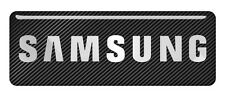 "Samsung 2.75""x1"" Chrome Domed Case Badge / Sticker Logo"