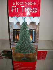 "6' Foot  Noble Fir Fake  Artificial Christmas Tree w/ Stand 72"" Inch Ships Daily"