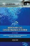 Dissolved Gas Concentration in Water : Computation As Functions of...