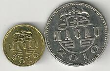 2 DIFFERENT COINS from MACAU - 10 AVOS & 1 PATACA (BOTH DATING 2010)
