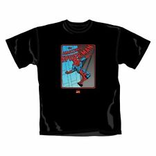 Spiderman t-shirt marvel comics officiel noir incroyable unisexe taille s