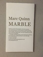 MARC QUINN. 'Marble' promotional brochure, Paragon Press, 2002