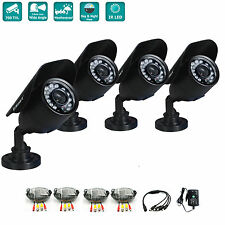 iSmart 4Pcs 700TVL Security Camera CCTV System 3.6mm IR Cut Night vision Outdoor