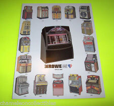 Rowe AMI Original 1993 Jukebox Sales Flyer 16 Models + LaserStar America CD-100C