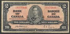 Canada Paper Money - WWII Era 2 Dollar Note - 1937 - Osbourne - FINE