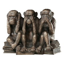 Three Truth Of Man Wise Monkey See Hear Speak No Evil Statue Figure Bronze Decor