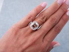 4.65 CARATS TW CUSHION CUT DIAMOND ENGAGEMENT RING NATURAL CHOCOLATE VS2