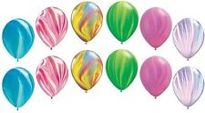12 pc Rainbow Agate Latex Balloons Princess & Fairy Birthday