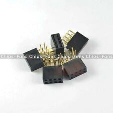 20PCS 2x4Pin Header 2.54mm Pitch Angle Female Right Double Row Socket Connector
