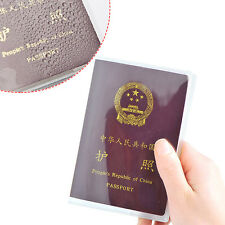 Clear Passport Holder Transparent Cover Skin Organizer ID Card Travel Protector