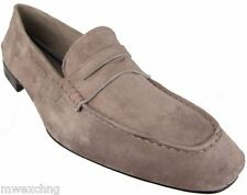 CESARE PACIOTTI US 8.5 FANCY SOFT SUEDE LOAFERS ITALIAN DESIGNER MENS SHOES