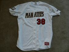 Defunct 2016 Brevard County Manatees Game Used Jersey 38 Angel Ventura Brewers