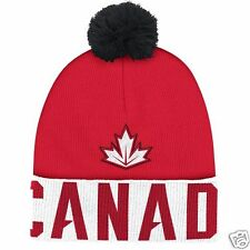 Team Canada Adidas 2016 World Cup of Hockey Pom Beanie - NEW