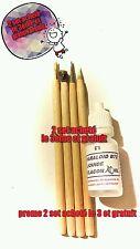 Promo set de 4 Crayons mine plus fine nettoyage monnaie et objets+paraloïd B72